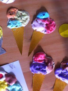 ijsjes met scheerschuim