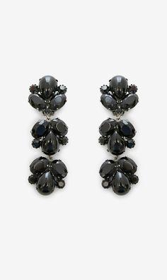 House of Lavande Black Earrings