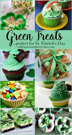 Delicious treats that are all green to help you celebrate St. Patrick's Day featured on Walking on sunshine. st patricks day treats Search results for st. patrick's dayWalking on Sunshine: Search results for st. Irish Desserts, Irish Recipes, Best Cake Recipes, Cookie Recipes, Unique Recipes, Easy Recipes, Healthy Recipes, St Patricks Day Food, Saint Patricks