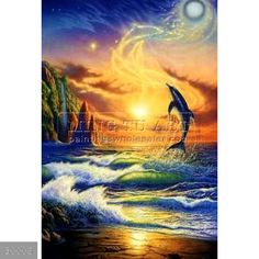 DOLPHIN JUMPING OUT OVER THE SUNRISE - Google Search