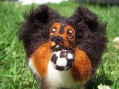 Sophie the needle felted Sheltie by BenMcfuzzylugs on Etsy, $100.00