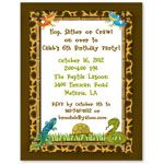 Reptile Birthday Party Invitations