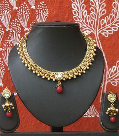 Designer Kundan, Pearl and Polki Set – India1001.com