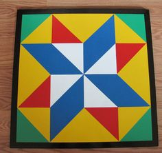 Double Pinwheel Barn Quilt  2'x2' by RemillardBarnQuilts on Etsy, $103.00