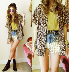 GOLD LEOPARD (by Bebe Zeva) http://lookbook.nu/look/2418067-GOLD-LEOPARD