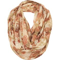 Cream Floral Print Snood ($32) ❤ liked on Polyvore featuring accessories, scarves, accessories - scarves, sciarpe, women, floral shawl, floral print scarves, snood scarves, cream shawl and cotton scarves