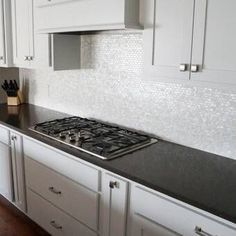 Mother of Pearl Shell Mosaic Tile for Kitchen Backsplashes/Bathroom Tile, White Subway Mosaic Tiles Small Kitchen Remodel Cost, Narrow Kitchen, Small Kitchens, Mosaic Wall Tiles, Kitchen Tile, Kitchen Reno, Backsplash In White Kitchen, Backsplash Kitchen White Cabinets, 10x10 Kitchen