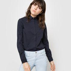 Chemise à pois, manches longues R essentiel   La Redoute Mobile