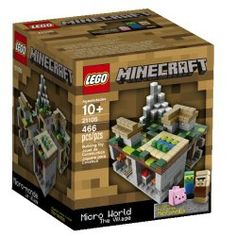 Buy LEGO Minecraft - Micro World: The Village at Mighty Ape NZ. Create your own Minecraft village, all with LEGO bricks! Every Minecraft world has a village hidden somewhere. Create and customize your own, all wit. Lego Minecraft, Minecraft Party, Minecraft Houses, Minecraft Stuff, Lego Lego, Minecraft Ideas, Lego Batman, Minecraft Skins, Minecraft Bedroom