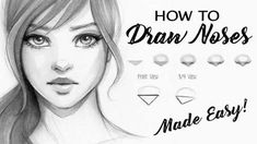 How to Draw a Nose, Step by Step Tutorial! – Hildur.K.O