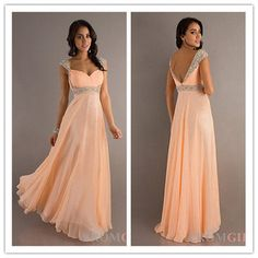 Long Chiffon Evening Gowns Formal Party Ball Gown Bridesmaid Dresses Prom Dress
