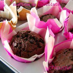 receta de muffins de chocolate espectaculares en www.decharcoencharco.com