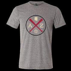 AZ Crossed Baseball Bats T-Shirt