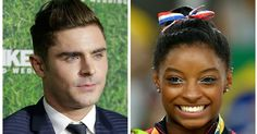 It happened: Simone Biles met her crush, Zac Efron