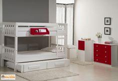 lits superpos s 90 x 200 cm harry 5 lit superpos superpose et conforama. Black Bedroom Furniture Sets. Home Design Ideas