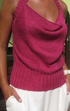 Ravelry: Sandfarbenes Top im Stil von Twinkle pattern by Für Sie Knitwear Fashion, Knit Fashion, Ravelry, Summer Knitting, Loom Knitting, Knitting Designs, Crochet Clothes, Pulls, Knitting Patterns