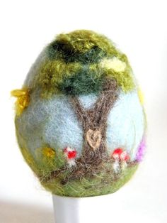 Needle Felted Easter Egg Made to Order by heartfeltpassion on Etsy, $19.00