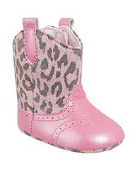 Nursery Rhyme® Pink Leopard Western Boot...OMG, these are too freaking cutee!!! My next daughter MUST have these