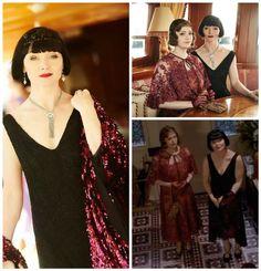 miss fisher's murder mysteries 1930s Fashion, Fashion Mode, Art Deco Fashion, Vintage Fashion, Fashion Ideas, Fisher, Lace Bolero, Murder Mysteries, Roaring Twenties