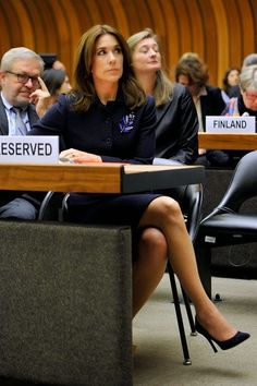Denmark's Crown Princess Mary attends the regional review meeting of the status of women in the UNECE region 20 years after the Beijing platform for action at the United Nations Office at Geneva on 06.11.2014 in Geneva, Switzerland.