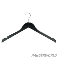 Black Wooden Top and Jacket Clothes Hangers - 45cm