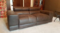Sake Relax Electric Reclining Seats In Old West Choco. Sofa With 2x Reclining  Seats And
