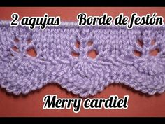 This is my attempt on variation to Scalloped Border Pattern. I hope all knitters and even crocheters are going to love it because it can be used for both kn. Fair Isle Knitting Patterns, Knitting Stiches, Knitting Videos, Crochet Videos, Baby Knitting, Crochet Motifs, Crochet Stitches, Crochet Patterns, Diy Crafts Knitting