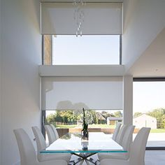Image gallery showing recessed blinds in windows, gables and skylights. Blinds And Curtains Living Room, Ceiling Curtains, Living Room Windows, Skylight Blinds, Skylights, Window Blinds, Blinds For Large Windows, Deck Enclosures, Electric Blinds