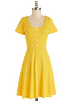 The Good Ol' Daisy Dress. Memories of whimsical days gone by blossom each time you slip into this yellow dress - a style found exclusively at ModCloth! #yellow #modcloth
