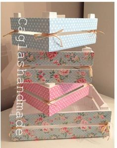 Cajas Shabby chic