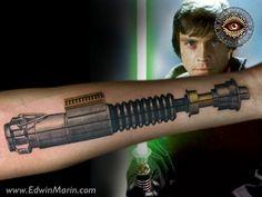 Star Wars Lightsaber #StarWarsLightsaber #StarWars #Lightsaber #LightsaberTattoo #Tattoo #TattooArt #CustomTattoo #OriginalArt #EvolArtsStudio #EvolArts #Downtown #LosAngeles #LA #DTLA #DowntownLA #DowntownLosAngeles