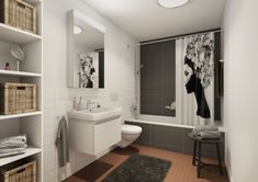 Visualisierung SIAG #swissinteractive #3drender #3dinterior #3dvisualisierung #3dbathroom #decor #vray #modeling #visualization #luxurydesign #3dbadezimmer Bathroom Interior, Toilet, Cabinet, Storage, Furniture, Home Decor, Bathroom, Projects, Clothes Stand