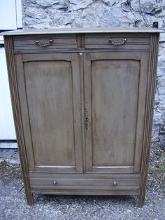 Antique French 2 Door Cupboard -Lingère -(Laundry/Linen Cupboard) | eBay