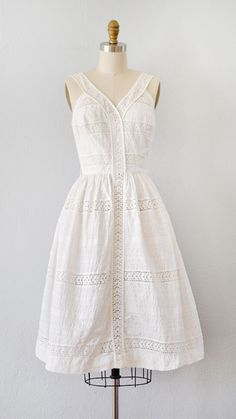vintage 1950s dress | Views of Leignon Dress | Adored Vintage