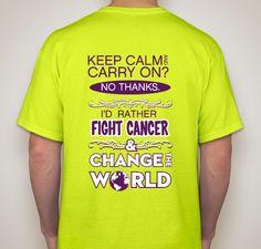 b8d37955d4e Join The Fight Fundraiser - unisex shirt design - back Relay For Life