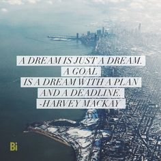 """Bright Ideas on Twitter: """"Goals vs. Dreams - quote by Harvey ..."""