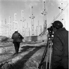 """Budowa Fabryki Domów (Łódzki Kombinat Budowlany """"Zachód""""). 1969r. Fot. PAP"""