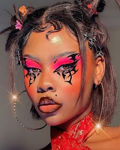 2000s Makeup, Emo Makeup, Eye Makeup Art, Makeup Inspo, Makeup Inspiration, Beauty Makeup, Hair Makeup, Cool Makeup Looks, Creative Makeup Looks