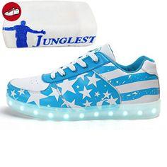 [Present:kleines Handtuch]Blue EU 27, leuchten Sportschuhe Schuhe Kinder, Sneakers Farben Turnschuhe Trainer USB-Lade JUNGLEST® Mädchen 7 J