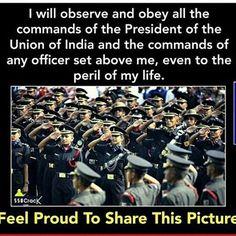 The oath 😃 Proud indian. #joinindianarmy #indianarmy #india #indianairforce #indiannavy #motivation #ssb #officer #love #uniform #bandofbrothers 😃