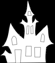 Scary House Silhouette clip art – vector clip art online, royalty free & public domain - New Sites Art Clipart, Free Vector Clipart, House Silhouette, Silhouette Clip Art, House Outline, Halloween Bulletin Boards, October Bulletin Boards, Halloween Art Projects, Scary Houses