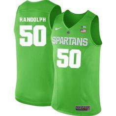 Men  50 Zach Randolph Michigan State Spartans College Basketball Jerseys-Apple  Green b922f5703