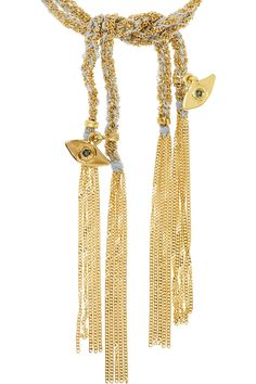 Carolina Bucci woven 18ct bracelet with sapphires