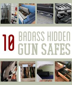 Gun safes come in all shapes and sizes. But the best, most badass gun safes are the ones that can be completely hidden while providing absolute gun safety. This list takes hidden gun storage to the… Survival Life, Survival Prepping, Emergency Preparedness, Survival Gear, Survival Quotes, Survival Equipment, Survival Shelter, Survival Skills, Hidden Gun Safe