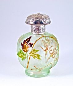 c1900 Galle Perfume Bottle Art Glass, Silver Mounts : Lot 16 This is like what I would make