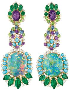 Dear Dior Bouquet d'Opales earrings (front) Via The Jewellery Editor.