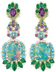 Dear Dior Bouquet d'Opales earrings (front) Via The Jewellery Editor.