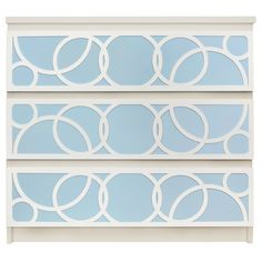 Show details for Bubbles O'verlays Kit for IKEA MALM (3 drawer)