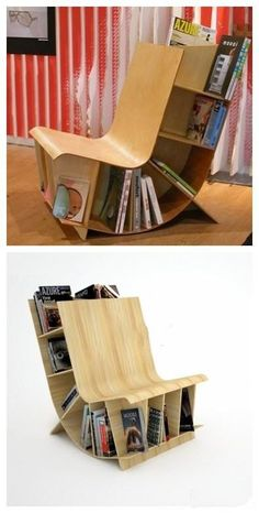 diy authors chair | Top Creative Works » Bookcase chair design