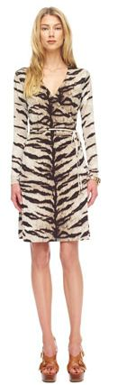 Gorgeous tiger-print jersey wrap dress. Buying immediately! #MichaelKors